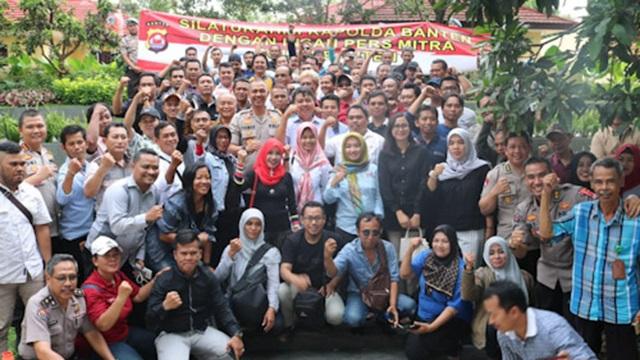 Jalin Sinergitas, Polda Banten Silaturahmi Dengan Awak Media