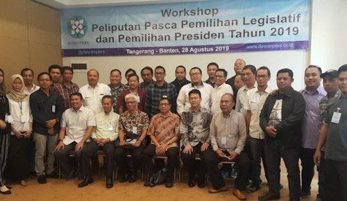 Dewan Pers Adakan Workshop Peliputan Pasca Pemilu 2019