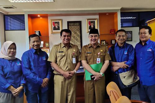 Sekda dan Asda II Kabupaten Tangerang Terima Pengurus SMSI