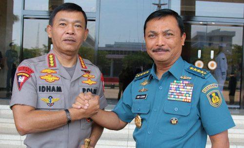 Kapolri Idham Azis Sambangi Mabes TNI AL dan Kasum TNI