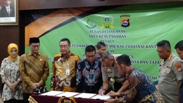 Polda, Kejati dan DPRD Banten Sepakati Pembentukan Produk Hukum Daerah
