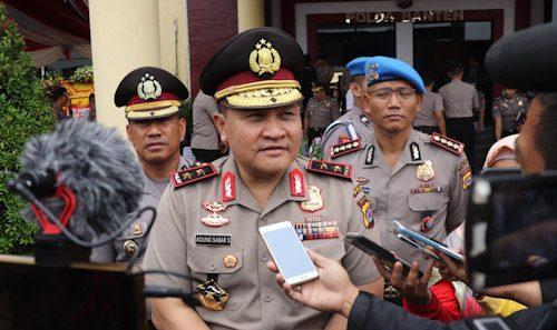 Antisipasi Bencana Alam, Polda Banten Tanam Pohon