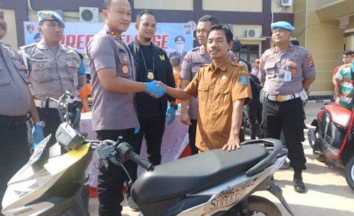 Kawanan Curanmor Bersenpi Asal Lampung Dibekuk, Korban: Terimakasih