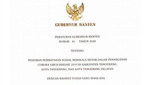 PSBB Tangerang Raya Hingga 3 Mei, Pelanggar Ada Sanksi