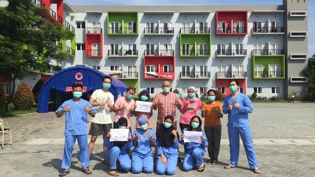 1 Pasien OTG Covid-19 di Rumah Singgah Griya Anabatic Boleh Pulang
