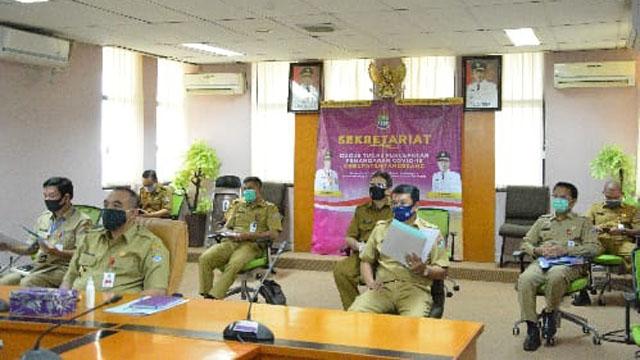 Bupati Zaki Hadir dalam Rapat Koodinasi KPK