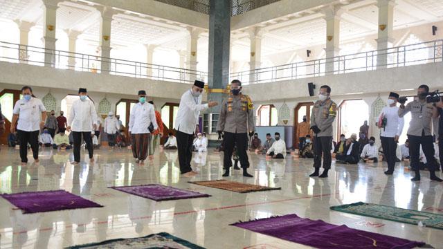 Dihadiri Bupati Tangerang, Masjid Al Amjad Simulasi Penerapan New Normal