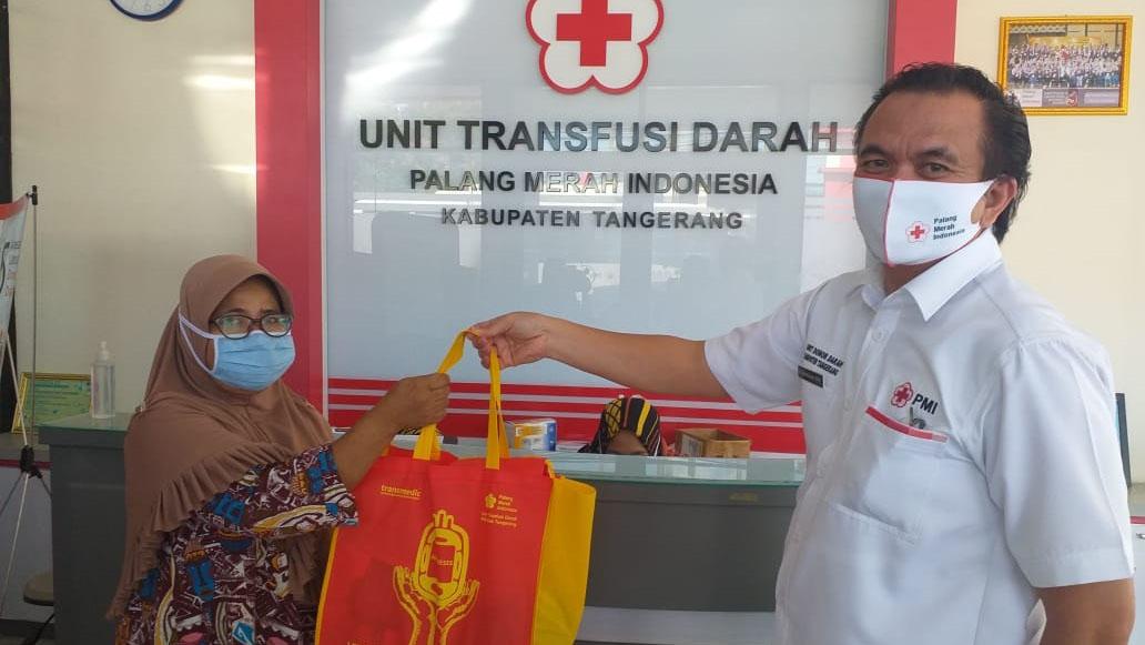 Donor Darah di PMI Kabupaten Tangerang Dapat Hadiah Sembako