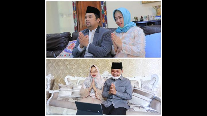 Idul Fitri 1441 H, Walikota Tangerang dan Wakil Silaturahmi via Online