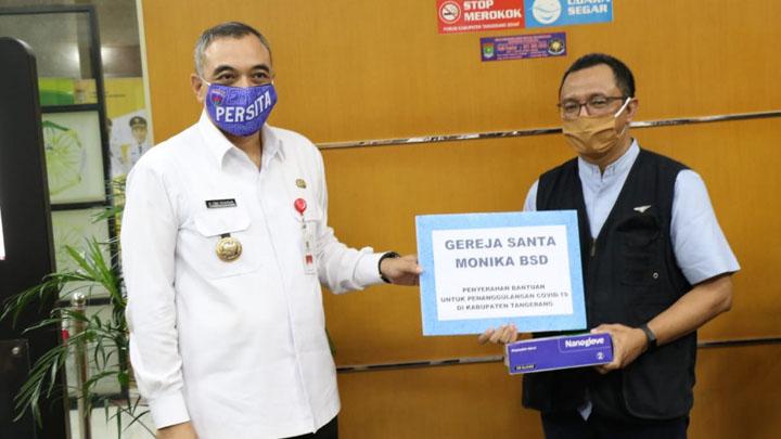 Pemkab Tangerang Terima Bantuan Peti Mati Untuk Korban Covid-19