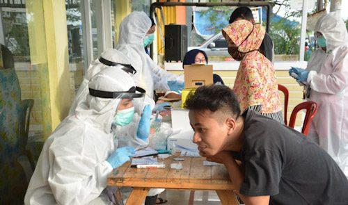 Puskesmas Tigaraksa Rapid Test Massal di Perumahan Sudirman