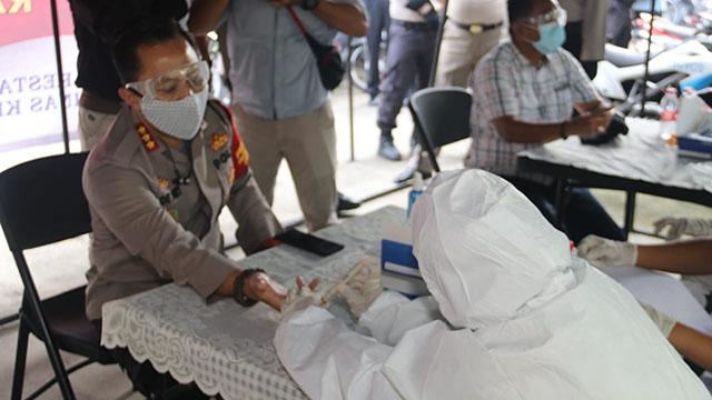 260 Personel Polresta Tangerang Ikut Rapid Test Covid-19