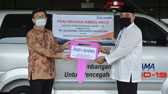 PT. Indorama Sumbang Ambulance untuk Warga Kabupaten Tangerang