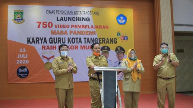 750 Video Pembelajaran, Kota Tangerang Raih Rekor MURI