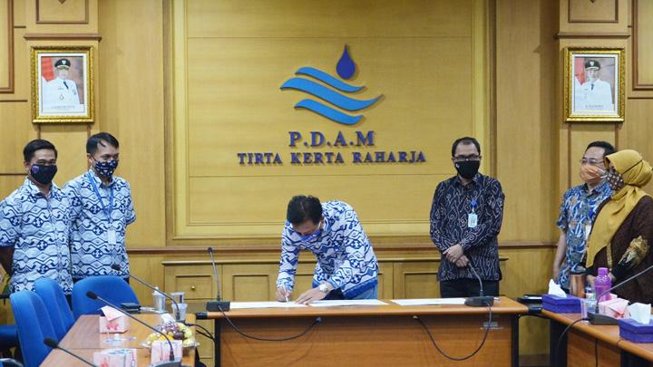 Air Bersih PERUMDAM TKR Bakal Dinikmati Warga Rajeg 1