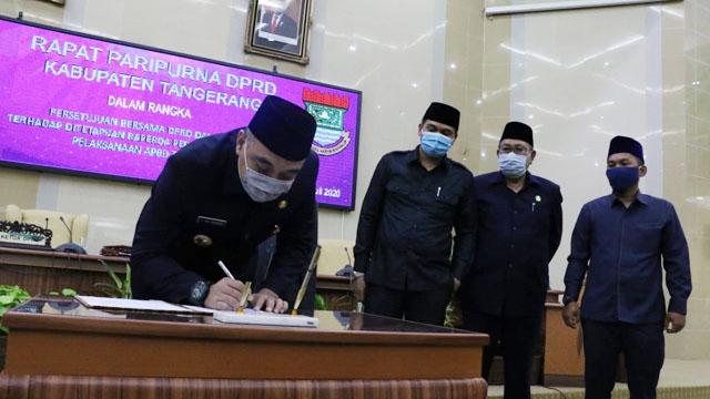 Puas Kinerja Bupati, DPRD Kabupaten Tangerang Setujui Penggunaan APBD Tahun 2019