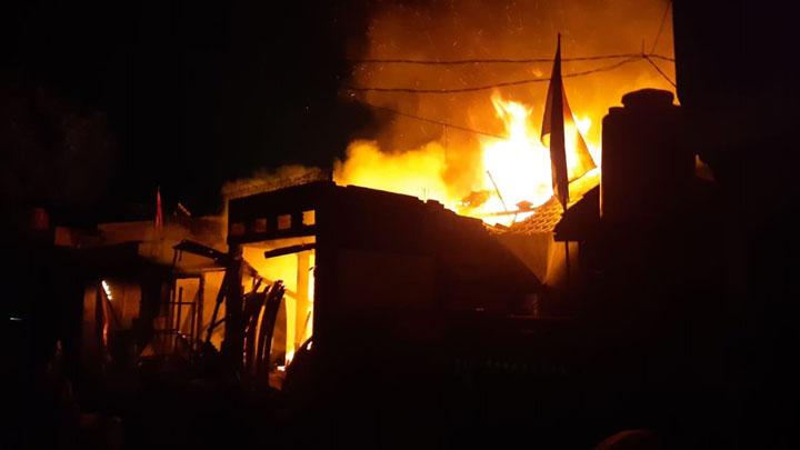 3 Rumah di Perumahan Sudirman Indah Tigaraksa Hangus Terbakar