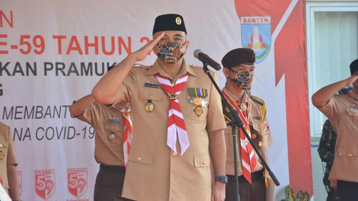 Momentum HUT ke-59, Pramuka Kabupaten Tangerang Diminta Tanggulangi Pandemi Covid-19
